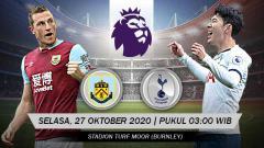 Indosport - Berikut prediksi pertandingan Liga Inggris Burnley FC vs Tottenham Hotspur.
