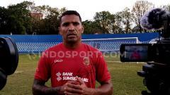 Indosport - Striker andalan Sriwijaya FC Alberto Goncalves.