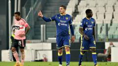 Indosport - Selebrasi gol Andrea Favilli dalam lanjutan Liga Italia Juventus vs Hellas Verona.