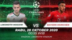 Indosport - Berikut tersaji link live streaming pertandingan sepak bola Liga Champions 2020-2021 antara Lokomotiv Moscow vs Bayern Munchen.