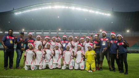Skuat Persitoli Tolikara saat mewakili Persipura Puteri di Liga 1 Puteri. - INDOSPORT