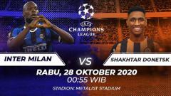 Indosport - Berikut prediksi pertandingan Shakhtar Donetsk vs Inter Milan di ajang Liga Champions Grup B, Rabu (28/10/2020) pukul 00.55 WIB di Stadion Metalist.