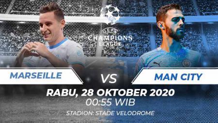 Berikut prediksi pertandingan Liga Champions 2020/21 grup C antara Olympique Marseille vs Manchester City - INDOSPORT