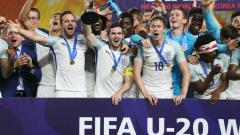 Indosport - Timnas Inggris saat juara Piala Dunia U-20 2017 di Korea Selatan.