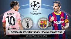 Indosport - Jadwal Pertandingan Liga Champions Hari Ini: Duel Juventus vs Barcelona