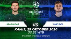 Indosport - Berikut prediksi pertandingan Krasnodar vs Chelsea di ajang Liga Champions Grup E, Kamis (29/10/2020) pukul 00.55 WIB di Stadion Krasnodar.