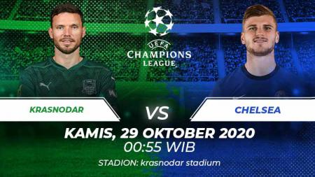 Berikut tersaji link live streaming pertandingan sepak bola Liga Champions 2020-2021 antara Krasnodar vs Chelsea pada Kamis (29/10/20). - INDOSPORT