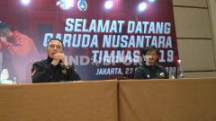 Indosport - Ketua PSSI, Mochamad Iriawan dan Indra Sjafri.