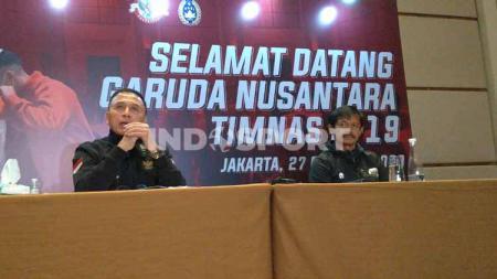 Ketua PSSI, Mochamad Iriawan dan Indra Sjafri. - INDOSPORT