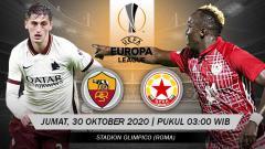 Indosport - Berikut tersaji link live streaming pertandingan sepak bola Liga Europa 2020-2021 antara AS Roma vs CSKA Sofia yang akan berlangsung pada Jumat (30/10/20).