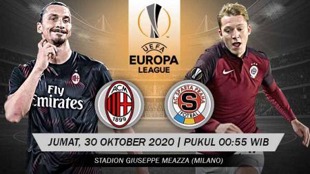 Klub raksasa Italia, AC Milan, akan bersua wakil Republik Ceko, Sparta Praha dalam laga kedua fase Grup H Liga Europa musim 2020/2021 ini. - INDOSPORT
