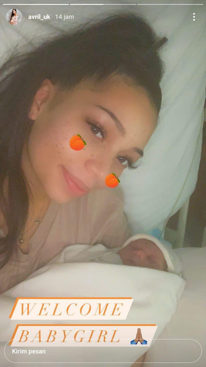 Kekasih Aaron Wan-Bissaka, Avril melahirkan putri pertama Copyright: Instagram/Avril_uk