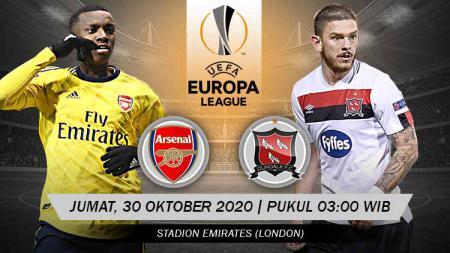 Berikut link live streaming pertandingan match 2 Grup B Liga Europa musim 2020/2021 yang akan mempertemukan Arsenal vs Dundalk - INDOSPORT