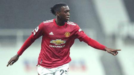 Aaron Wan-Bissaka, pemain Manchester United. - INDOSPORT