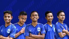 Indosport - Lima Pemain PSIS Semarang U-16 yang berkesempatan mengikuti program Garuda Select.