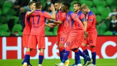 Indosport - Selebrasi gol Callum Hudson-Odoi di laga Krasnodar vs Chelsea.