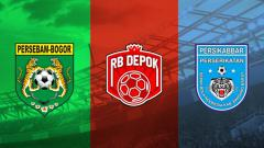 Indosport - Persebam Bogor, RB Depok, dan Persikabbar Bandung Barat.