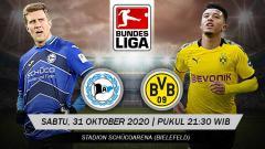 Indosport - Beriku prediksi pertandingan Bundesliga Jerman antara Arminia Bielefeld vs Borussia Dortmund.