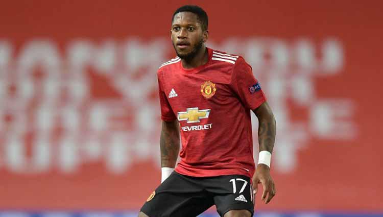 Fred, pemain sepakbola Manchester United Copyright: Vincent Mignott/DeFodi Images via Getty Images