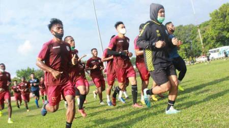 Latihan terakhir punggawa Muba Babel United. - INDOSPORT