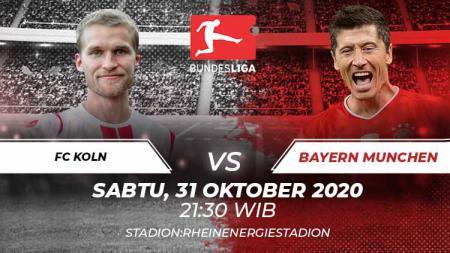 Link Live Streaming Fc Koln vs Bayern Munchen. - INDOSPORT