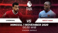 Indosport - Berikut prediksi pertandingan Liga Inggris antara Liverpool vs West Ham United di Anfield.
