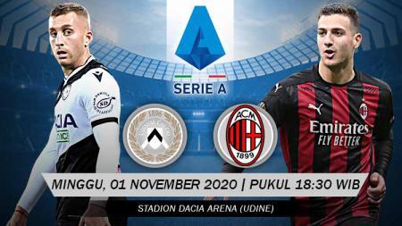 Berikut prediksi pertandingan Serie A Liga Italia antara Udinese vs AC Milan. - INDOSPORT