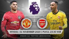 Indosport - Pertandingan Manchester United vs Arsenal (Liga Primer).