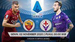 Berikut prediksi pertandingan AS Roma vs Fiorentina di ajang Serie A Italia pekan ke-6, Senin (2/11/2020) pukul 00.00 WIB di Stadio Olimpico.