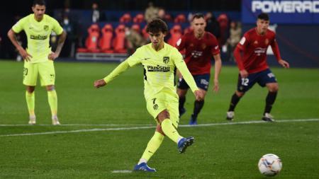Gol Joao Felix di laga Osasuna vs Atletico Madrid dalam lanjuta LaLiga 2020/2021. - INDOSPORT