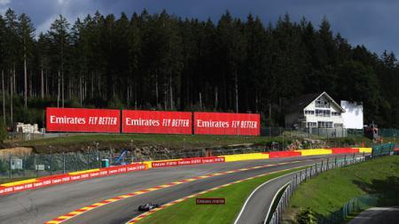 Sirkuit terpanjang F1 saat ini, Sirkuit Spa-Francorchamps di Belgia. - INDOSPORT