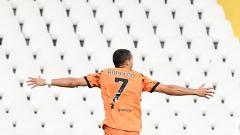 Indosport - Selebrasi Cristiano Ronaldo di laga Spezia vs Juventus