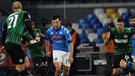 Suasana pertandingan Napoli vs Sassuolo di Serie A Italia - INDOSPORT