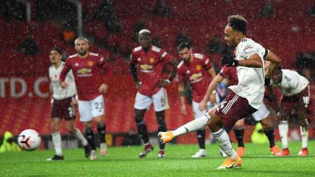 Laga pertandingan antara Manchester United vs Arsenal setelah Manchester United dikalahkan Arsenal di Liga Inggris. - INDOSPORT