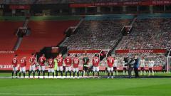 Indosport - Pemain Manchester United di Old Trafford.