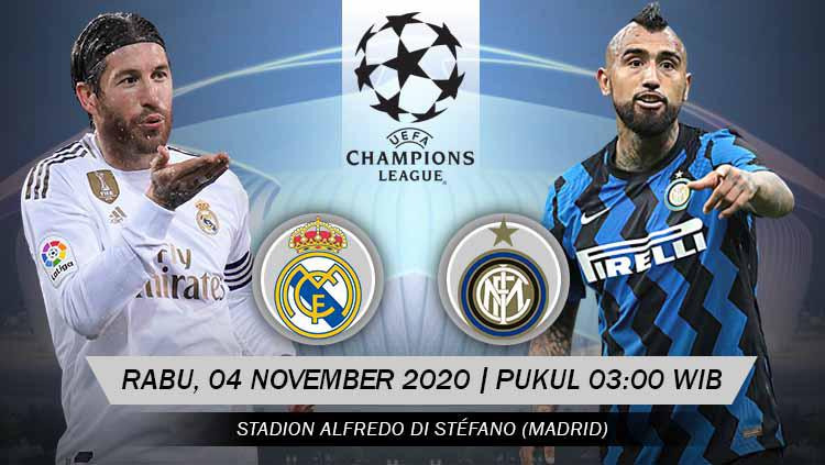 Link Live Streaming Liga Champions Real Madrid Vs Inter Milan Indosport
