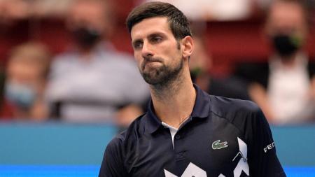 Novak Djokovic di turnamen tenis Vienna Terbuka, Jumat (30/10/20). - INDOSPORT