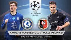 Indosport - Prediksi pertandingan Liga Champions antara Chelsea vs Rennes, Kamis (05/11/20).