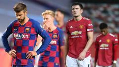 Indosport - Entah kebetulan atau tidak, Barcelona dan Manchester United memiliki nasib yang sama di Liga Champions dan liga domestik masing-masing.