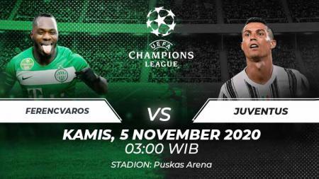 Berikut link live streaming pertandingan Liga Champions antara Ferencvaros vs Juventus. - INDOSPORT