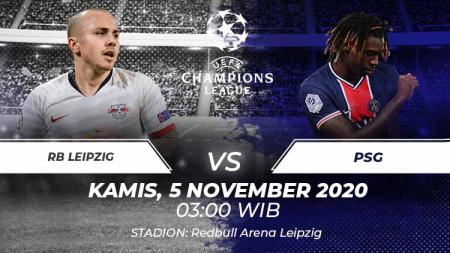 Link live streaming pertandingan Liga Champiions RB Leipzig vs PSG. - INDOSPORT