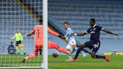 Indosport - Striker Manchester City, Ferran Torres, mencetak gol pembuka ke gawang Olympiacos dalam pertandingan Liga Champions, Selasa (3/11/20).