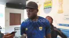 Indosport - Striker Persib, Geoffrey Castillion, ditemui di Graha Persib, Jalan Sulanjana, Kota Bandung.