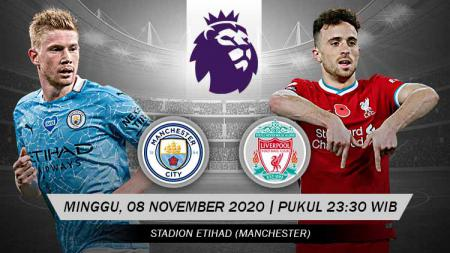 Pertandingan Manchester City vs Liverpool (Liga Inggris). - INDOSPORT