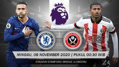 Indosport - Berikut link live streaming pertandingan antara Chelsea vs Sheffield United dalam lanjutan pekan ke-8 Liga Inggris 2020/21.