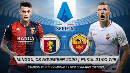 Berikut prediksi pertandingan Serie A Liga Italia antara Genoa vs AS Roma. - INDOSPORT