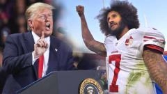 Indosport - Donald Trump dan atlet NFL Colin Kaepernick.