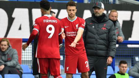 Roberto Firmino, Diogo Jota, dan pelatih Liverpool, Jurgen Klopp - INDOSPORT