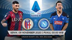 Indosport - Prediksi Serie A Italia: Bologna vs Napoli, Ambisi Tim Tamu Raih Poin Pengganti.