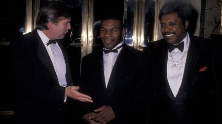 Donald trump, Mike Tyson, dan Don King - INDOSPORT